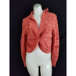Lane Bryant Size 14 16 Orange Hooded Cardigan